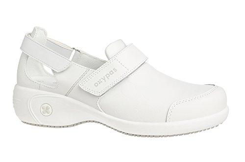 Oxypas Move Up Salma Slip-resistant, Antistatic Nursing Shoes, White, 5 UK (38 EU)