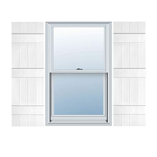 """Builders Choice EVB14059WH Shutters, 14"""" x 59"""", White"""