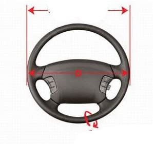 Steering wheel protective cover diameter 37-39 cm //10.5 cm perforated genuine leather
