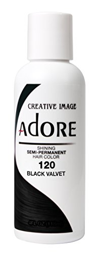 Adore Semi-Permanent Haircolor #120 Black Velvet 4 Ounce (118ml) (Perm Permanent Semi)