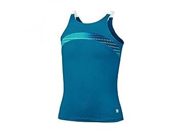 Wilson, Canotta da Tennis Bambina, Blu (Ultramarine/White), S WRA710501SM