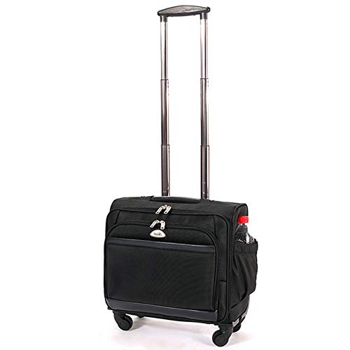Travel Trolley Case Suitcase Spinner Hand Luggage Check-in Hold Luggage Expandable Strong Lightweight One-Way Wheel Small Business Computer Trip GAOFENG (Color : Black-A, Size : 412540CM)