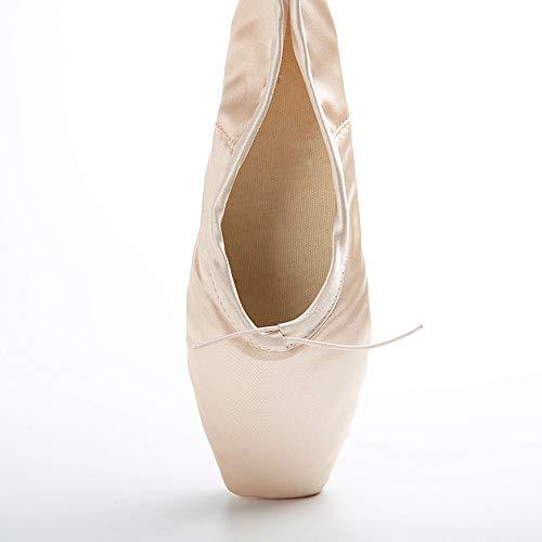 Xuanbao Zapatillas/Zapatillas de Ballet de Cuero con Suela Completa Dansoft Dance para Mujer (Color : Rojo, tamaño : 30) Beige