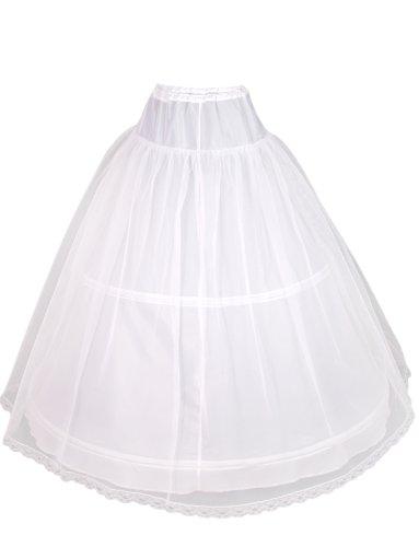 Flora 2 aro de 1 capa de la boda de la mujer net / prom enagua