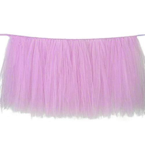FidgetGear Tulle Tutu Table Skirt Tableware Wedding Party Xmas Baby Shower Decor Gift Light Pink from FidgetGear