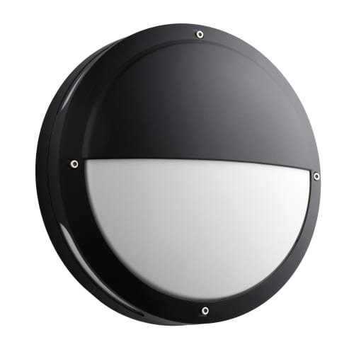 Oxygen Lighting 3-714-15 Eclipse 1 Light 4 inch Black Outdoor Wall (Polycarbonate Diffuser Cast)