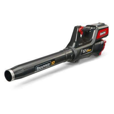 Snapper XD 130 MPH 550 CFM 82-Volt MAX Lithium-Ion Cordless Leaf Blower Kit with 2 Ah Battery and Rapid ()