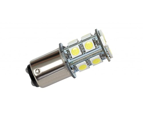 Grv Ba15d 1142 1076 1176 High Bright Car LED Bulb 13-5050SMD AC/DC12V ~28V Cool White Pack of 2 (28v Light Bulb)
