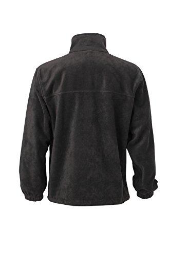 Giacca zip Black Pesante In Full Fleece Sportiva Uomo pwzxp7Av