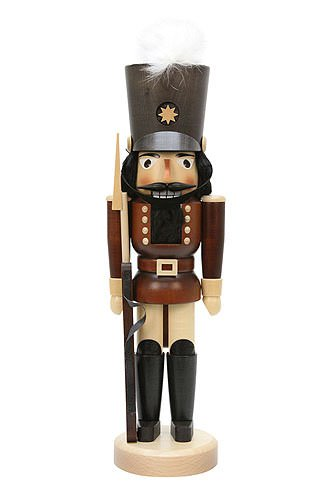 German Christmas Nutcracker Soldier natural colors - 43,0 cm / 17 inch - Christian Ulbricht by Ulbricht