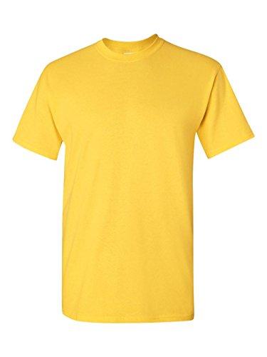 - Gildan Adult 5.5 oz 100% Cotton Short Sleeve T-Shirt in Daisy - XXX-Large