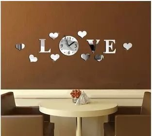 Generic Diy 3D Home Decoration Wall Clock Big Mirror Modern DesignLarge Size