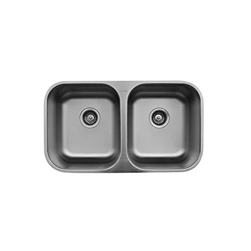 - U-5050 Stainless Steel Double Equal Bowl Undermount Sink