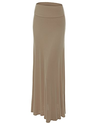-Over Maxi Skirt XL TAUPE (Stitched Womens Skirt)
