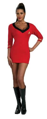 [Secret Wishes Womens Star Trek Uhura Costume, Red, Medium] (Red Star Trek Dress)