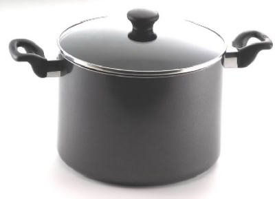 T-Fal/Wearever 47008 Get-A-Grip Saucepan,, With Glass Lid, 8-Qts. - Quantity 2