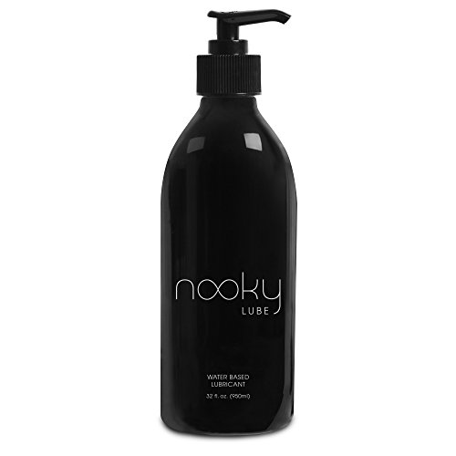 Lubricant - Personal Water Based Lube for Men, Women - Nooky Lubes 32ozTM Natural Liquid Silk lubricants Made in USA - 100% Unconditional Money Back, No Risk Guarantee ...