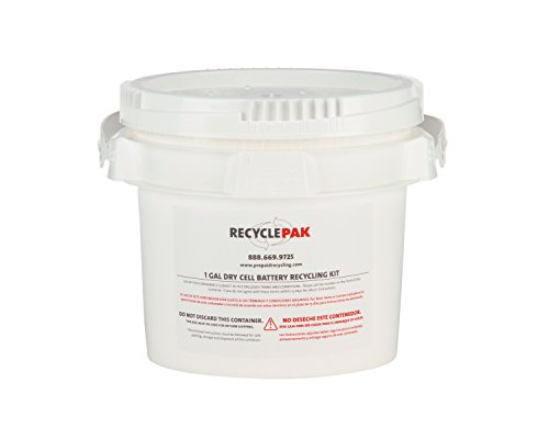 SUPPLY-069 1 GAL DRY CELL BATTERY RECYCLING PAIL by Veolia