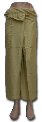 Fisherpant Pescador pantalones * * verde * * Pantalones de yoga Wrap Sport Tailandia Tailandés largo