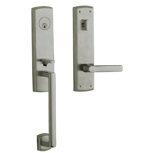 Baldwin Antique Nickel Images - Baldwin M516151RENT Antique Nickel Images, Soho Soho Right Hand Single Cylinder Mortise Entrance Handleset Trim Set with 5485 Estate Collection Lever M516.RENT