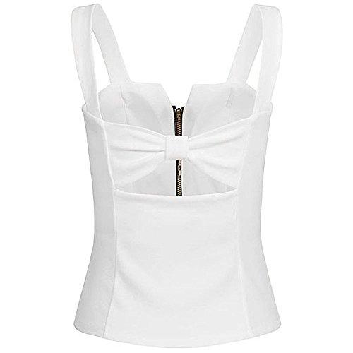 Sexy Collo Canotta Crop Z donneEstate Camicette T Canottiere Canotta Blusa Vest a DamarktmAbbigliamento white Shirt Donna Per Sport V righe le a u5TFc3KJl1