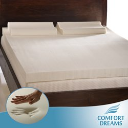 king size memory foam pad Amazon.com: Comfort Dreams 3 inch Memory Foam Mattress Topper w  king size memory foam pad