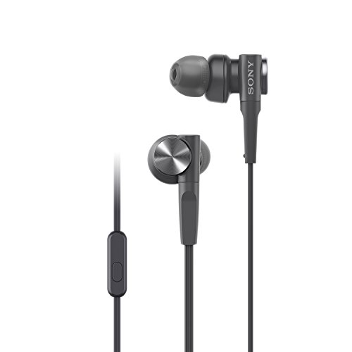 Sony MDR-XB55AP In-Ear Extra Bass Headphones with Mic (Black)