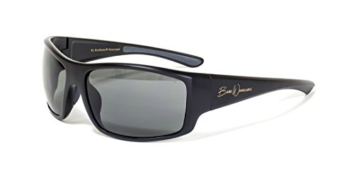 BluWater Polarized Babe Winkelman Edition 3 Sunglasses with Shatterproof Polycarbonate Lens, Matte Black Frame, Gray - Prince Lens Sunglasses 3