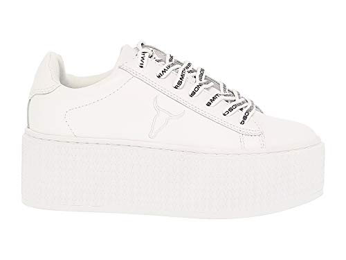 Donna Windsor Pelle Seoulwhite Bianco Smith Sneakers pnZR1T