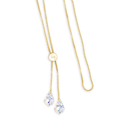 Luca + Danni Baroque Lariat Necklace in Crystal AB - 18kt Gold ()