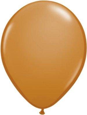 Latex Brown Mocha (Mayflower Balloons 10862 11 Inch Mocha Brown Latex Pack Of 100)
