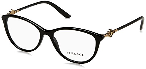 Versace Women's VE3175 Eyeglasses Black - Glasses Versace Frames Women For