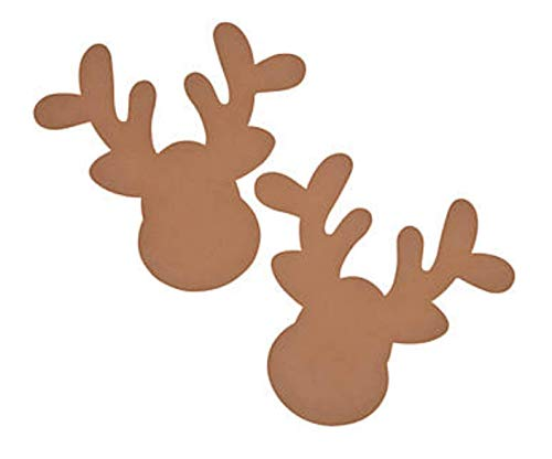 Set of 24 Foam Reindeer Head Shapes