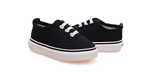 ALUK- Zapatos de bebé - zapatos de lona de los niños Aprenda los zapatos perezosos Zapatos ocasionales ( Color : Rojo , Tamaño : 21 ) Negro