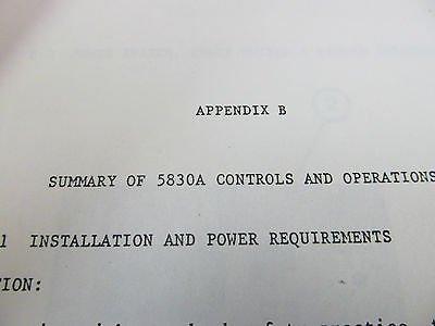 Wavetek 5830 Digital Signal Analyzer Operating Manual (preliminary) w Type 74 ()