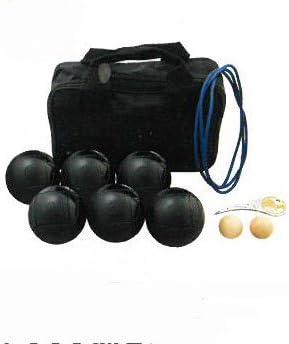 サンラッキー ペタンク 国際連盟公認球12個セット ブラック球セット SRP-24