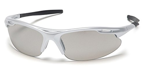 - Pyramex Safety Avante Eyewear, Silver Frame, Indoor/Outdoor Mirror Lens