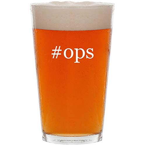 #ops - 16oz Hashtag All Purpose Pint Beer Glass