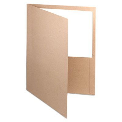 (Oxford : Recycled Paper Twin-Pocket Portfolio, Natural -:- Sold as 2 Packs of - 25 - / - Total of 50 Each)