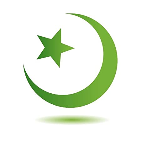 Star And Crescent Religion Symbol Islam Car Bumper Sticker Decal 5