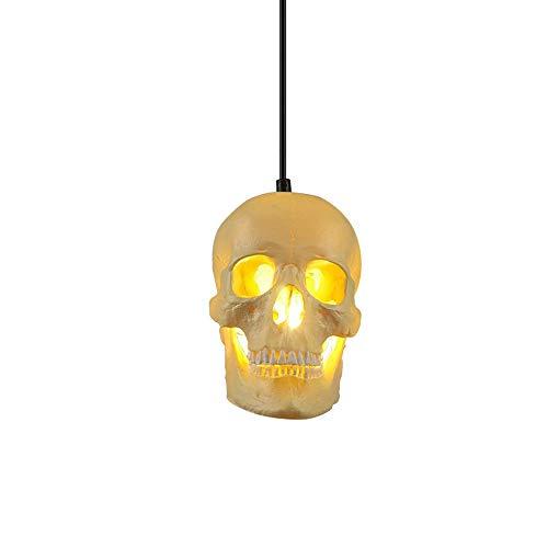 Halloween Skull Pendant Light Personality Creative Magic Skull Bones Ceiling Pendant Light 150CM Chain Adjustable Single Head Restaurant Hanging Lamp Nordic Art Bar Cafe Corridor Chandelier -