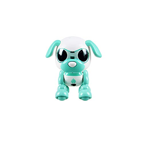 Wotryit Electronic Intelligent Pocket Pet Dog Interactive Puppy - Smart Puppy Robot Dog LED Eye Recording Singing Sleep CuteToy for Age 3 4 5 6 7 8 9 10 Year Old Boys Girls and Kids Gifts(Green )
