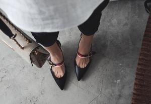 con negro Cordones hexiajia Zapatos mujer Planos wH6WSnqC