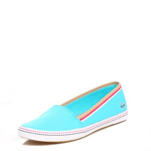 Lacoste Womens Blue Orane Canvas Shoes-UK 5