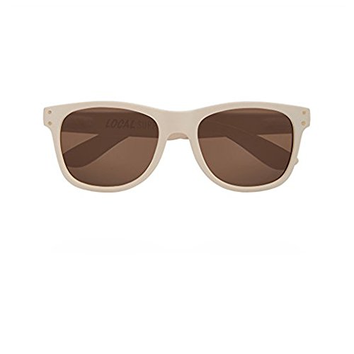 Local Supply Unisex Everyday Pacific Off White / Brown Tinted - Local Supply Sunglasses