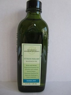 Bath and Body Works Aromatherapy Stress Relief Tranquil Mint Massage Oil 4 oz