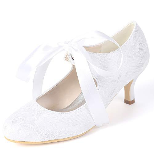 Kitten Bajo yc 6 Spring De Fy119 Cm Las Seda Altos White Tacones L Flowers Boda Mujeres Primavera Zapatos 684x4dqpw