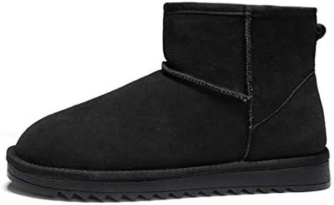 裏ボア スノーブーツ メンズ イギリス風 黒 男女兼用 雪靴 軽量 歩きやすい ウィンターブーツ 厚底 滑り止めムートンブーツ 保温 暖かい 防滑 アウトドアシューズ 短靴 男性用 作業靴 防寒 冬 ショットブーツ