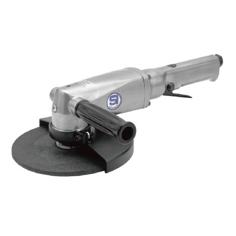 SHINANO SI-2600L 178MM GOVERNED PNEUMATIC (AIR) ANGLE GRINDER 7000RPM LEVER THROTTLE by Prasertsteel