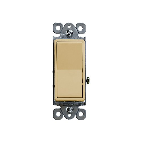 Focuslife Ivory Decorator 15A Switch 3 Way/SPST Lighted Illuminated Rocker Light Switch -